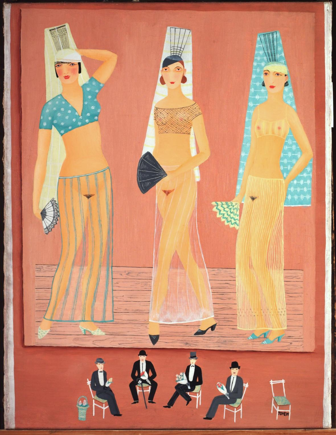 Toyen, Tři tanečnice, 1925