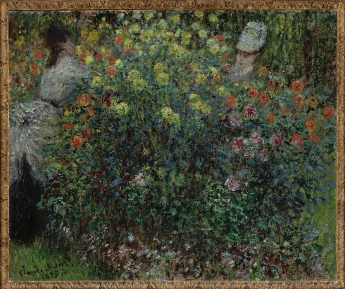 Claude Monet, Dámy v květinách, 1875
