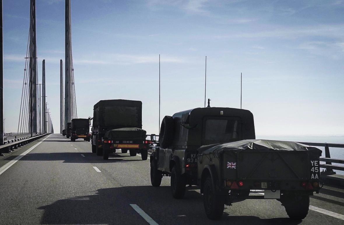 Přesun britské armády na cvičení NATO v Norsku