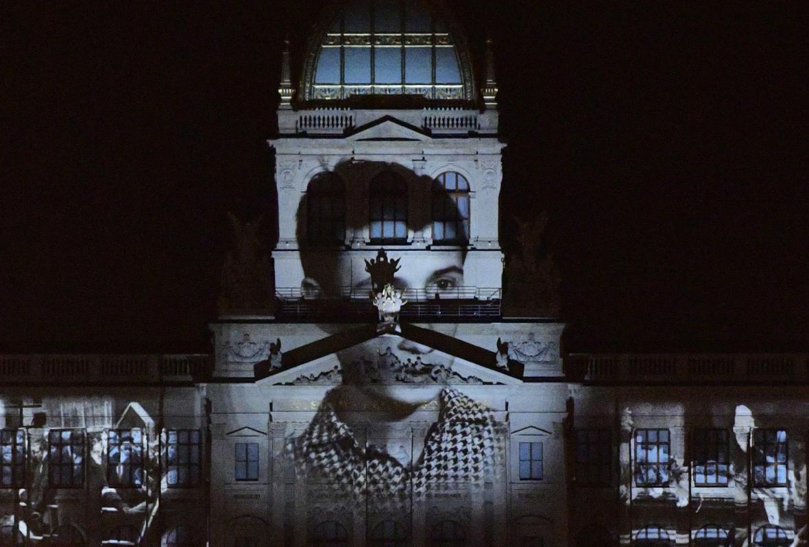 Videomapping na budově Národního muzea