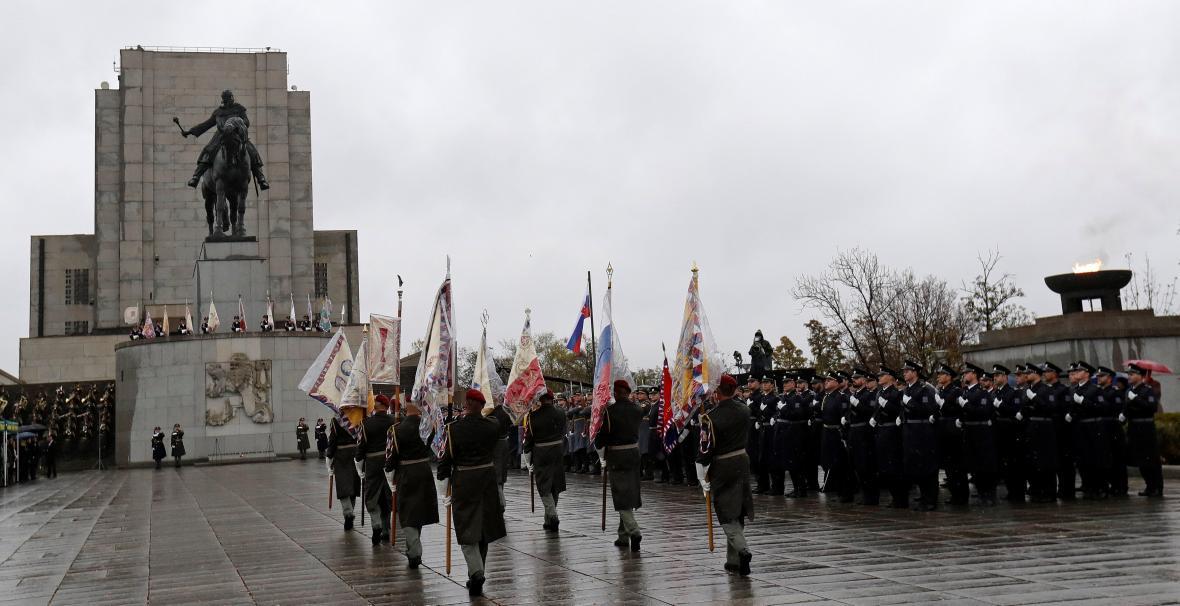 Pietní akt na pražském Vítkově