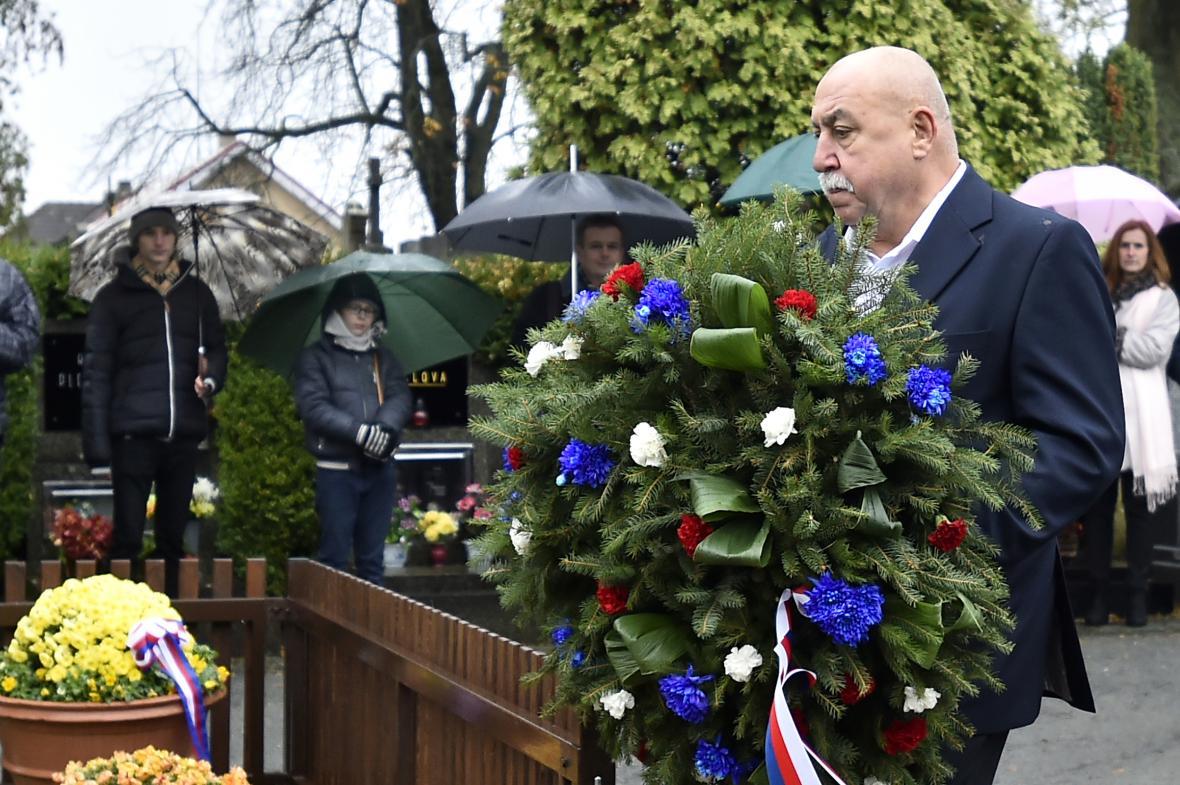 Lidé uctili památku prvního československého prezidenta Tomáše Garrigua Masaryka