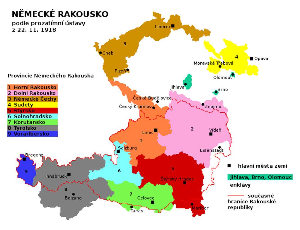 Oblasti nárokované Německým Rakouskem