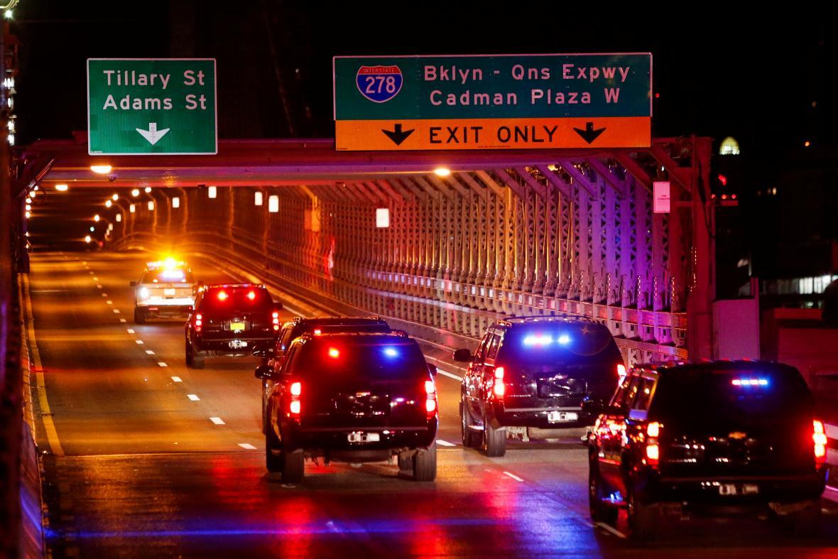 Kvůli průjezdu kolony s Guzmánem se bude dvakrát denně uzavírat Brooklynský most