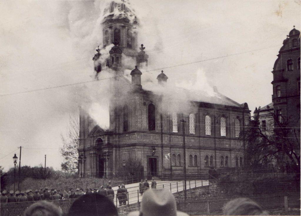 Vypálení synagogy v Liberci