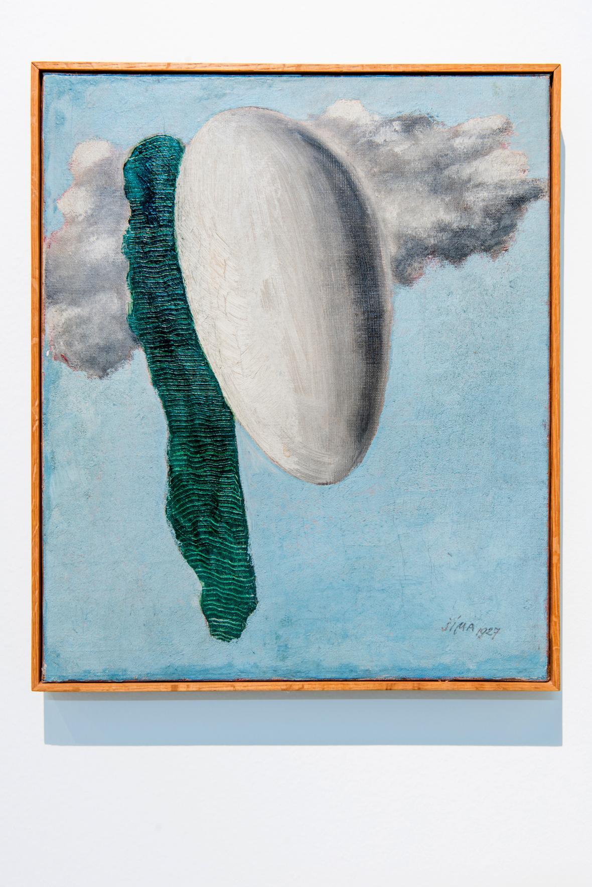 Z výstavy Josef Šíma - Cesta k Vysoké hře (Moravská galerie)