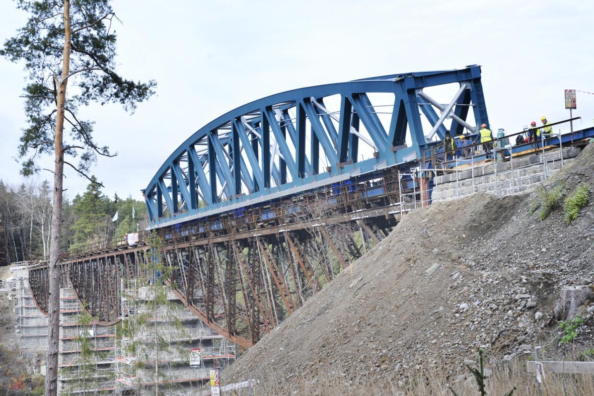 Rekonstrukce mostu přes Hracholuskou přehradu