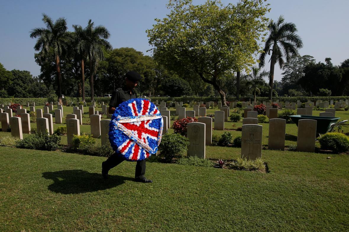 Hřbitov s oběťmi první světové války v Kalkatě