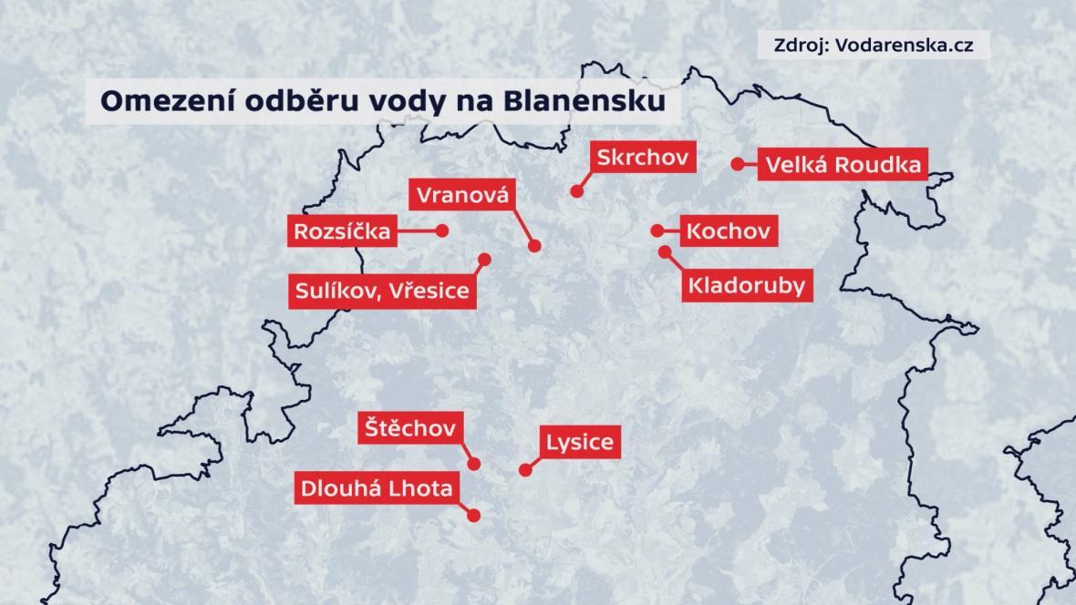 Obce na Blanensku, kde opatření stále platí