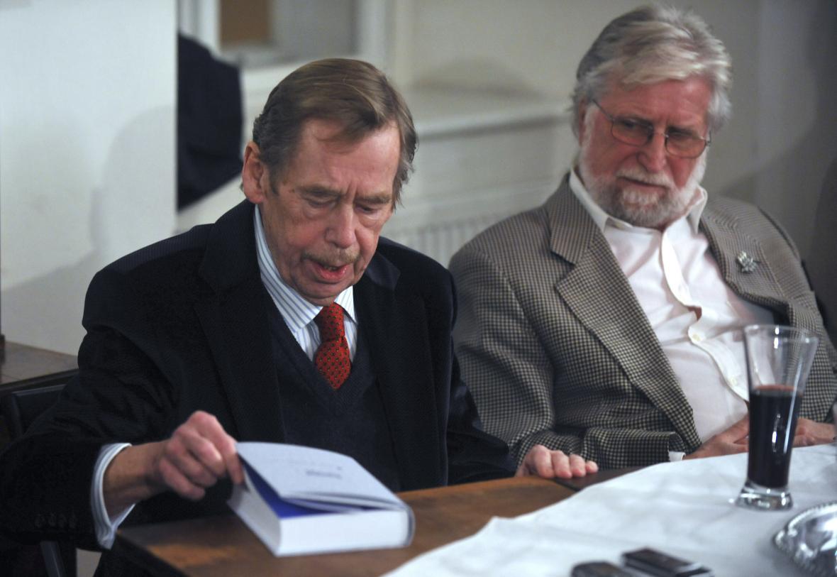 Václav Havel a jeho bratr Ivan Havel