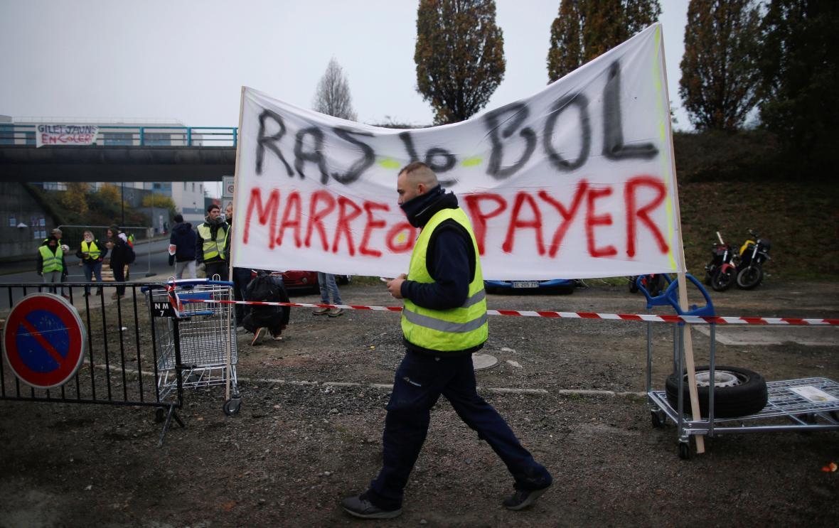 Protestní akce v Nantes