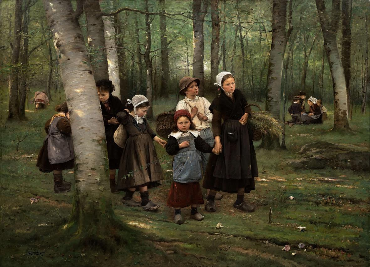 Václav Brožík / Děti v lese (1891)
