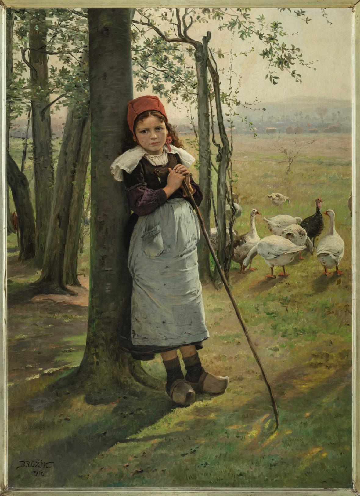 Václav Brožík / Pasačka husí (kolem 1885)