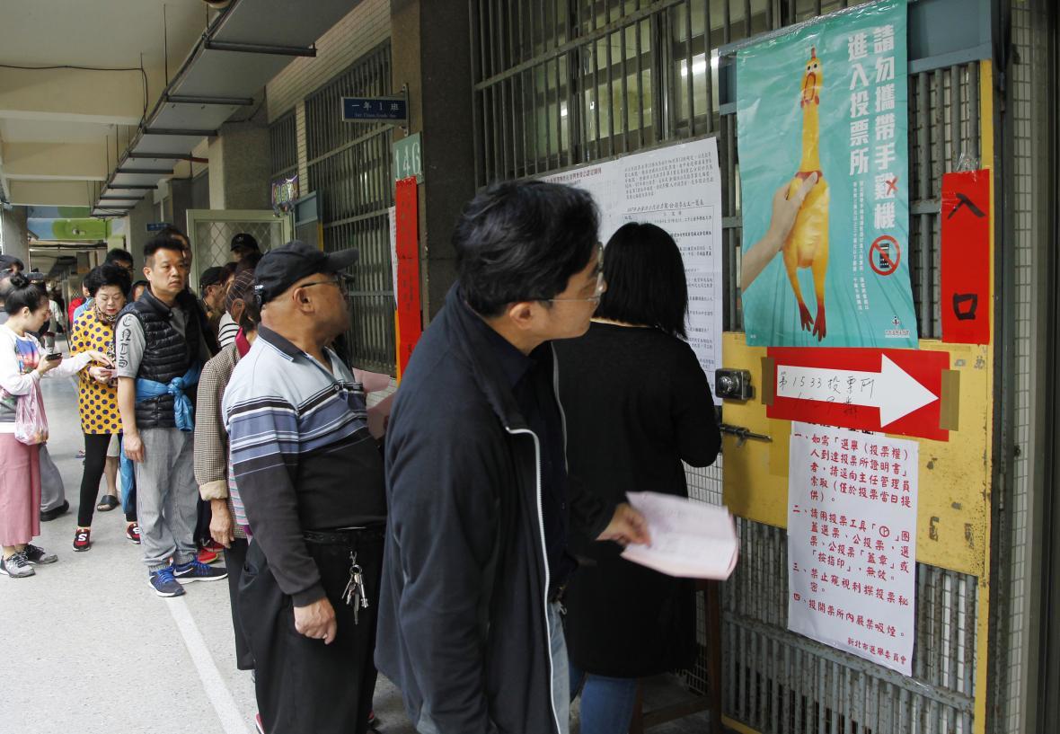 Obyvatelé Tchaj-wanu hlasovali v referendu
