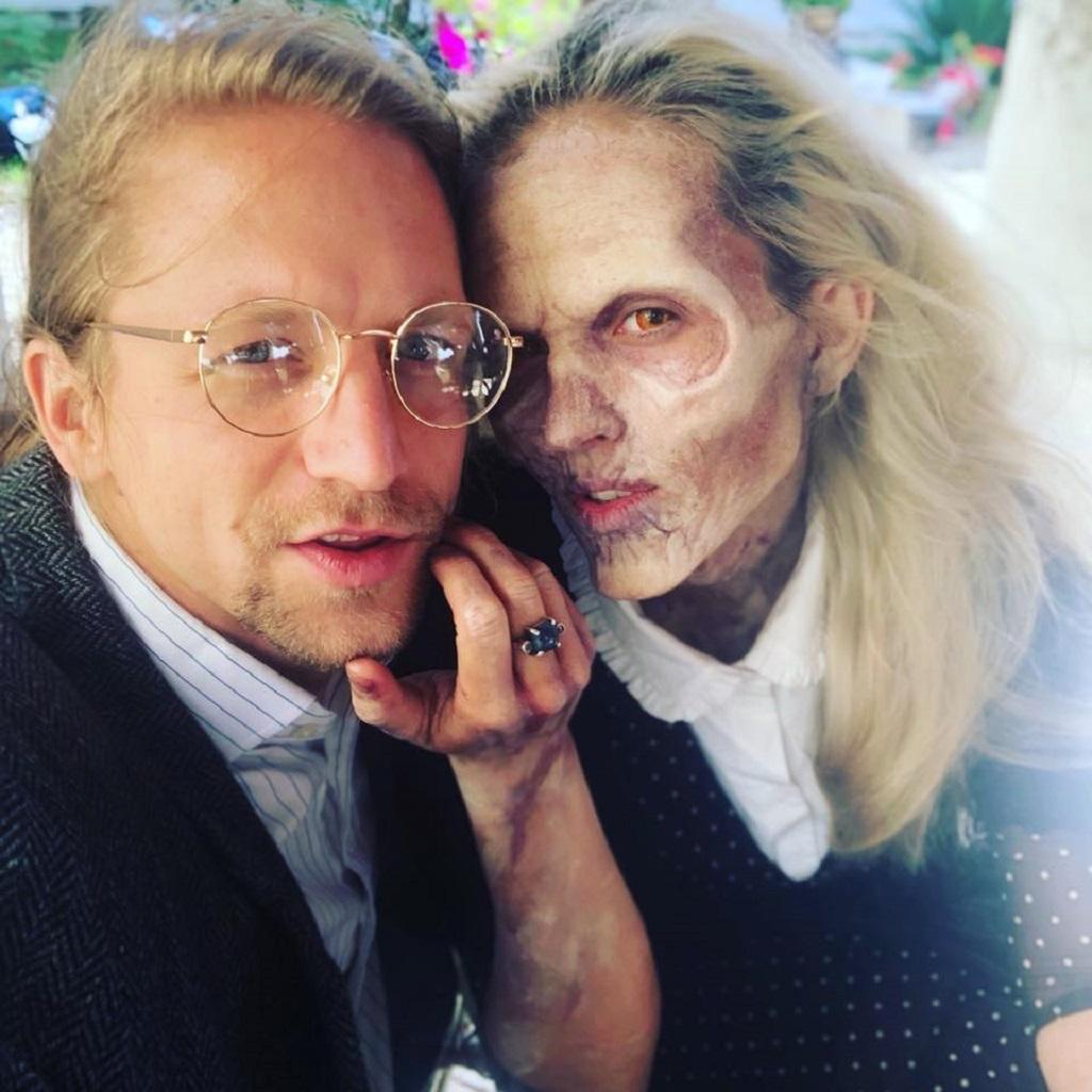 Tomáš a Tamara Klusovi během natáčení klipu Dobrodružce