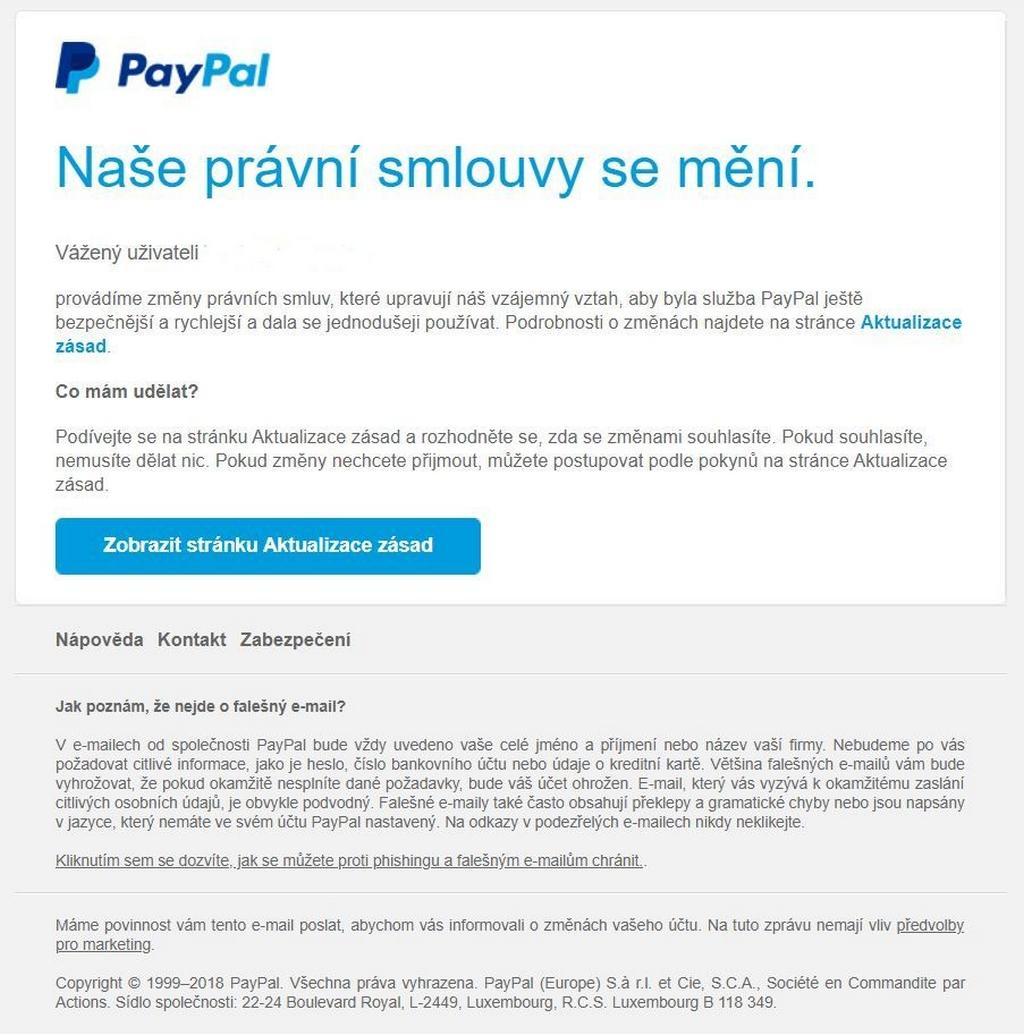Originální stránka PayPal