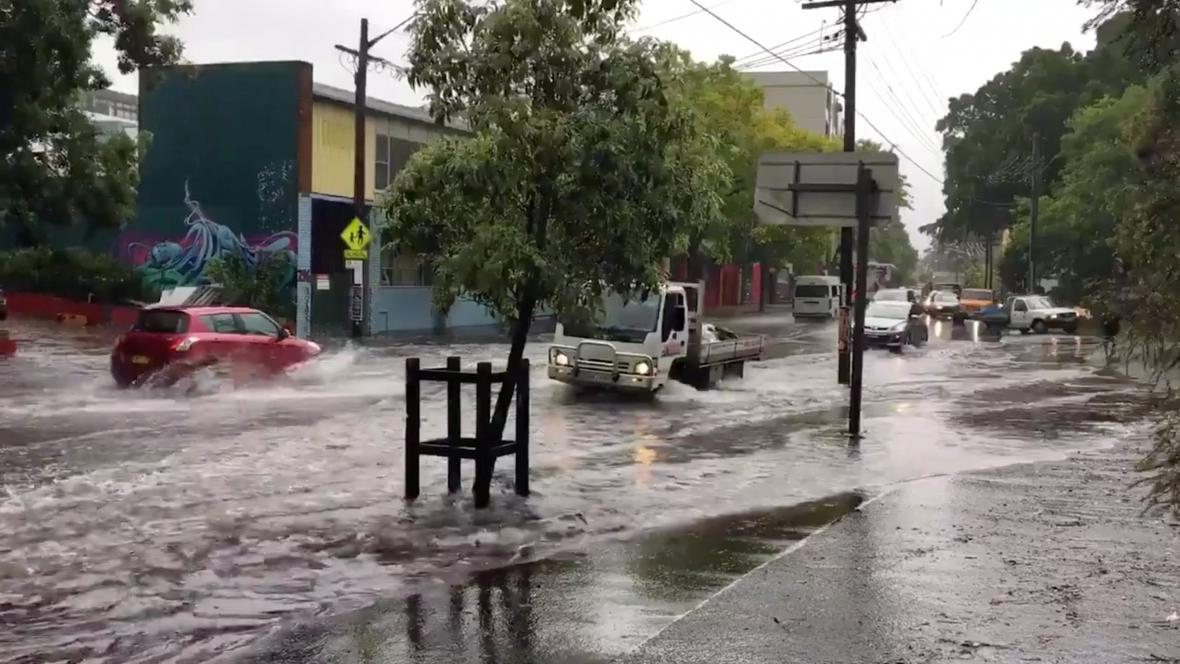 Zaplavené ulice v Sydney