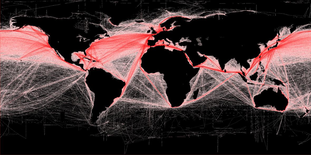 Hlavní námořní trasy