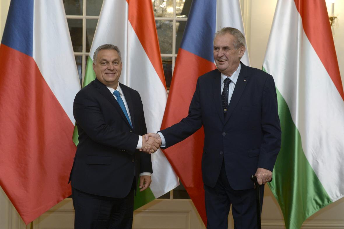 Viktor Orbán a Miloš Zeman