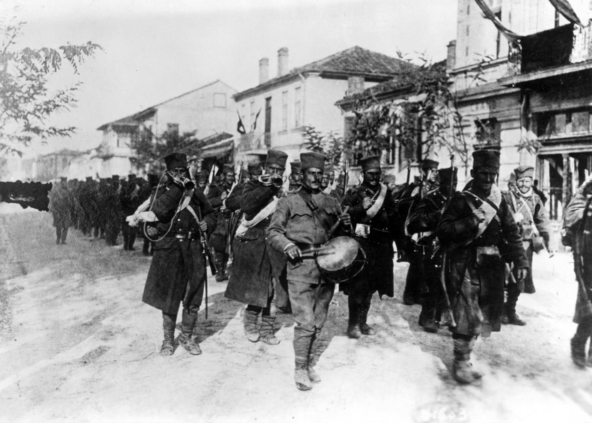 Vojáci srbské armády v roce 1914