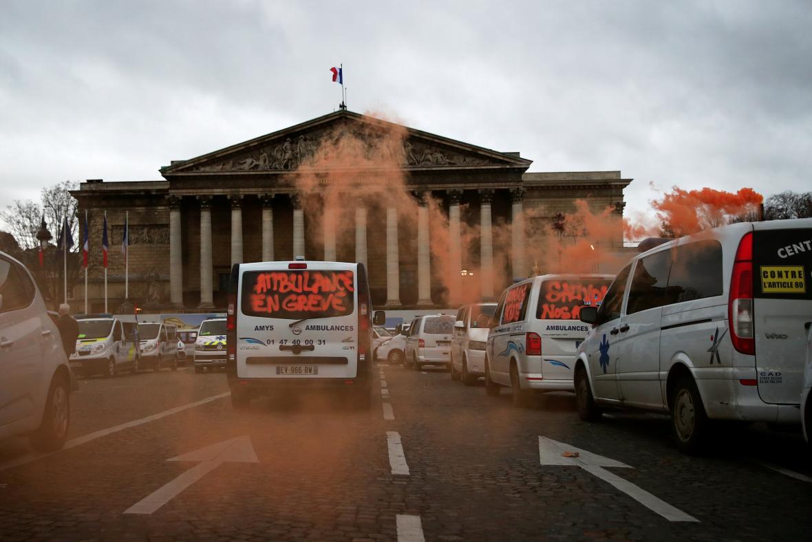 Protest řidičů sanitek