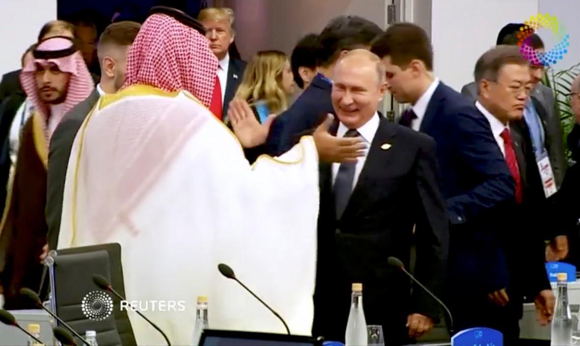 Muhammad bin Salmán a Vladimir Putin