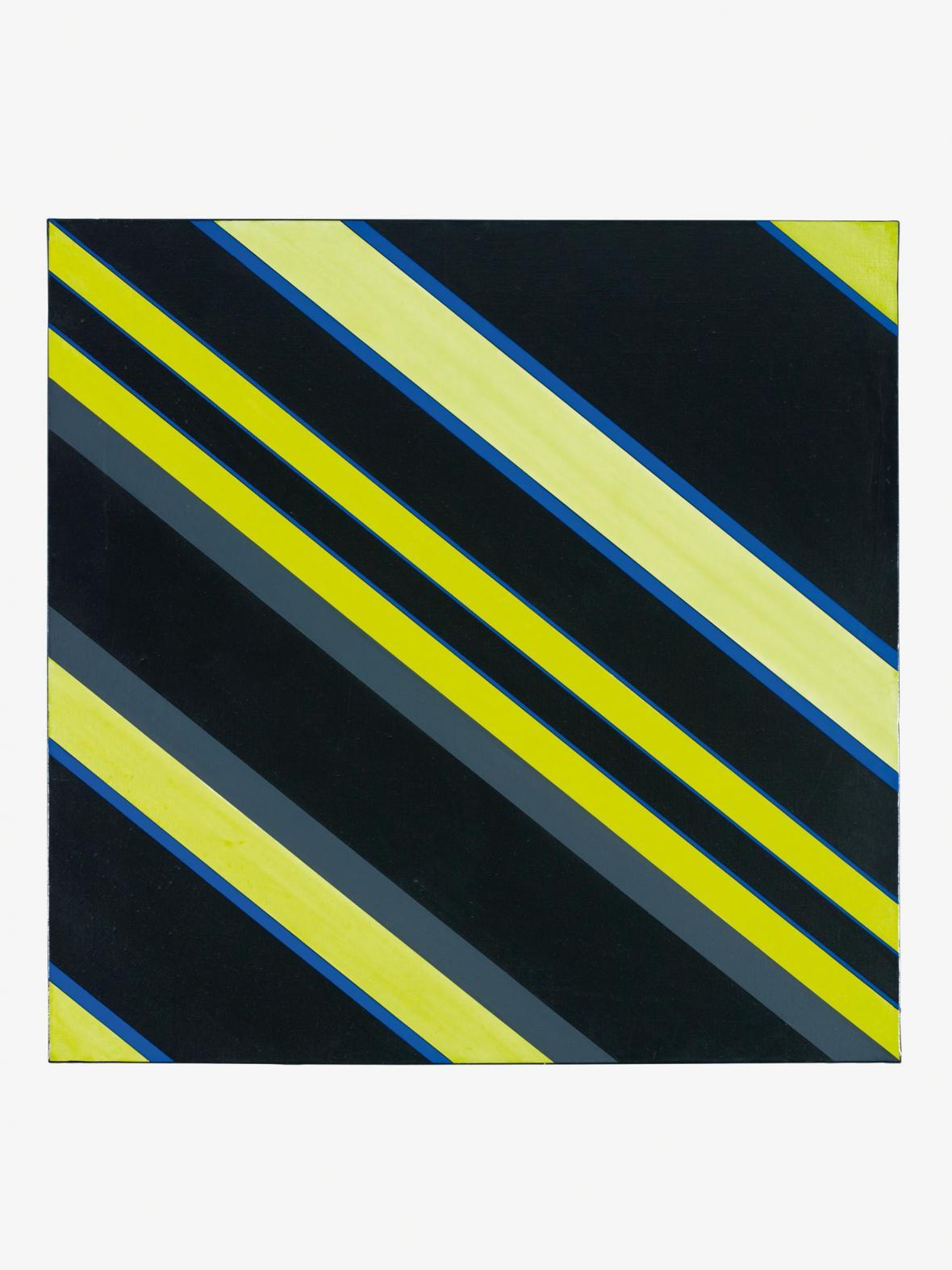 Günter Fruhtrunk / Šedá-černá-žlutá, 1970