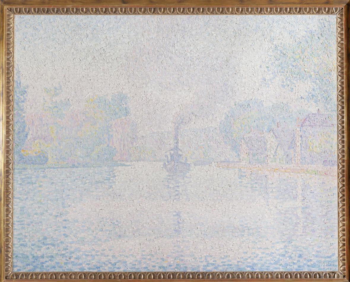 Paul Signac / Parník L´Hirondelle na Seině, 1901
