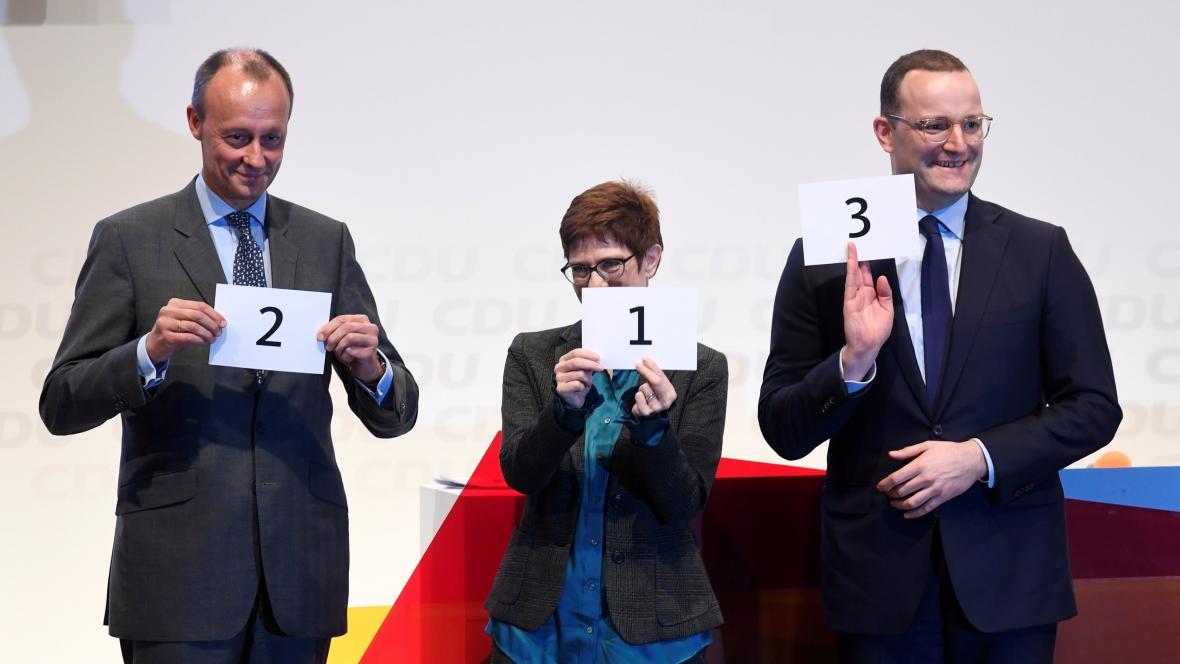 Tři kandidáti na vedení CDU