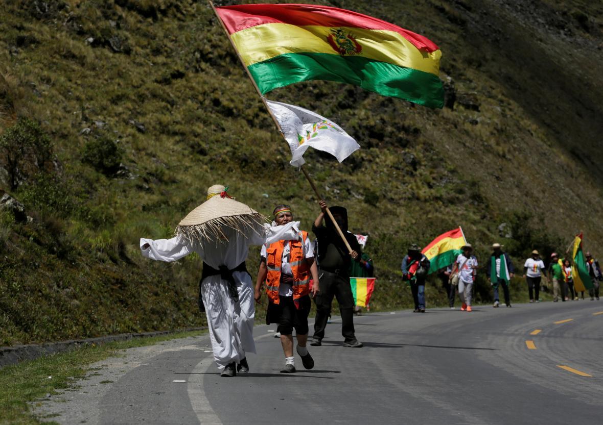 Protest proti Moralesovi