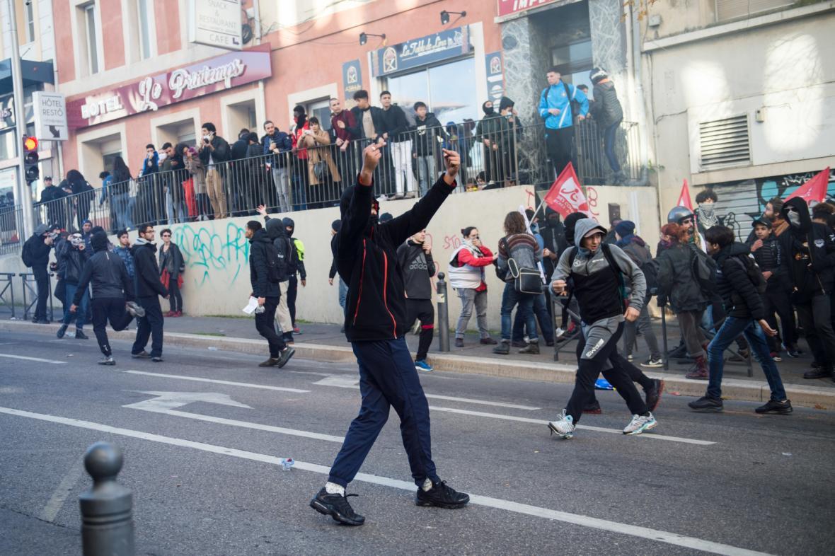 Protesty v ulicích Marseille