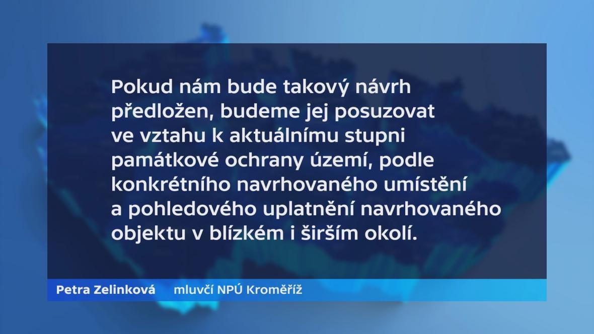 Vyjádření mluvčí Národního památkového úřadu Kroměříž