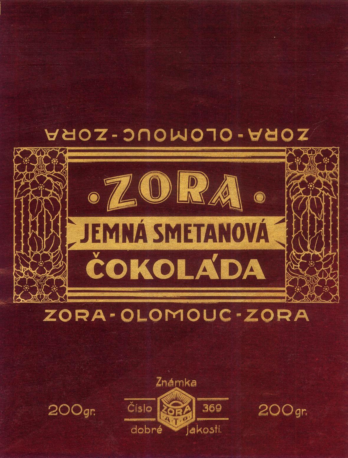 Obal na čokoládu Zora