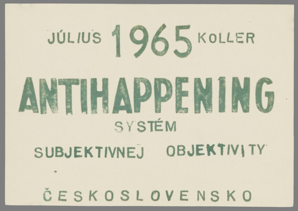 Július Koller, Antihappening, 1965