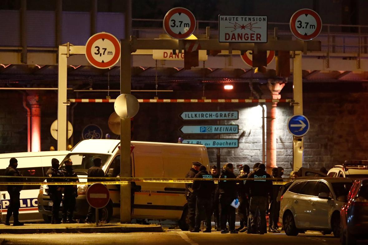 Policejní zásah ve Štrasburku