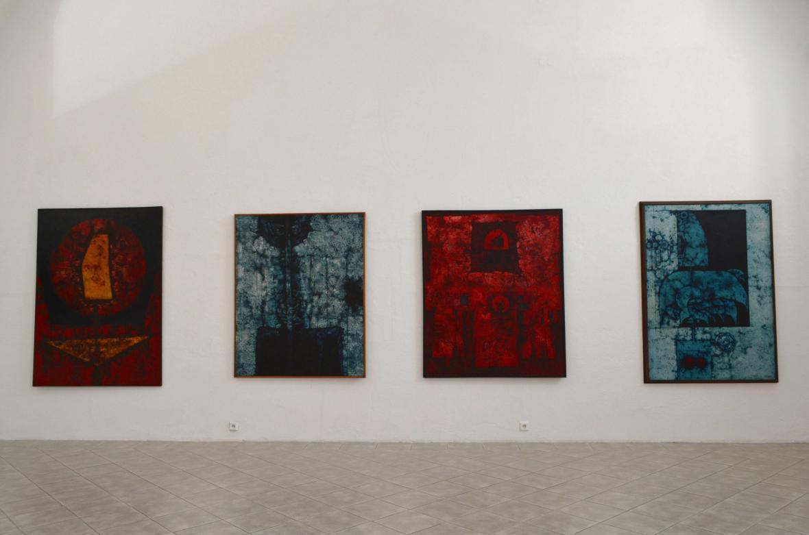 Z výstavy Mikuláš Medek v Galerii moderního umění v Roudnici nad Labem