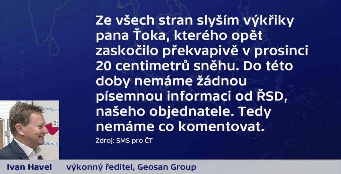 Vyjádření ředitele Geosan Group Ivana Havla