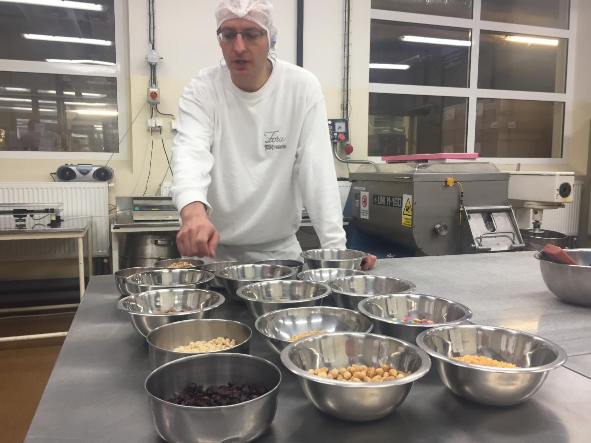 Příprava výroby čokolády