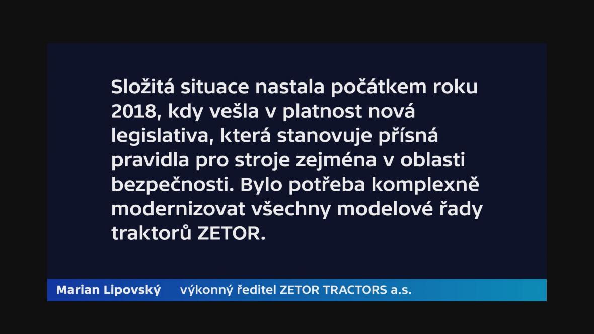 Vyjádření ředitele Zetoru Mariana Lipovského