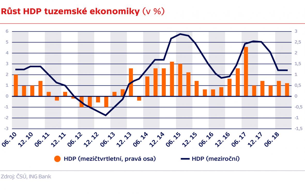 Růst HDP tuzemské ekonomiky