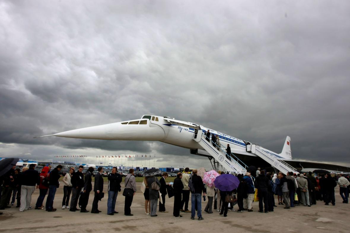 TU-144 na výstavě poblíž Moskvy (2009)