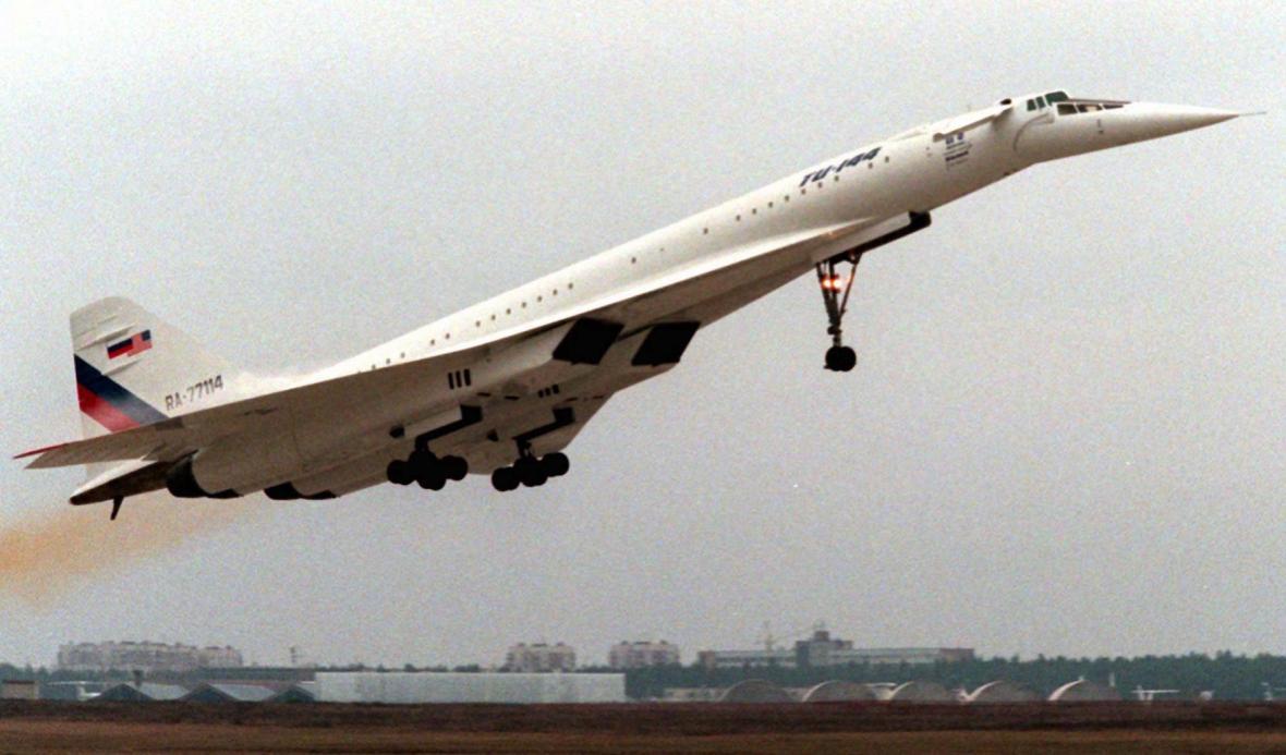 Tu-144 na fotce z roku 1996