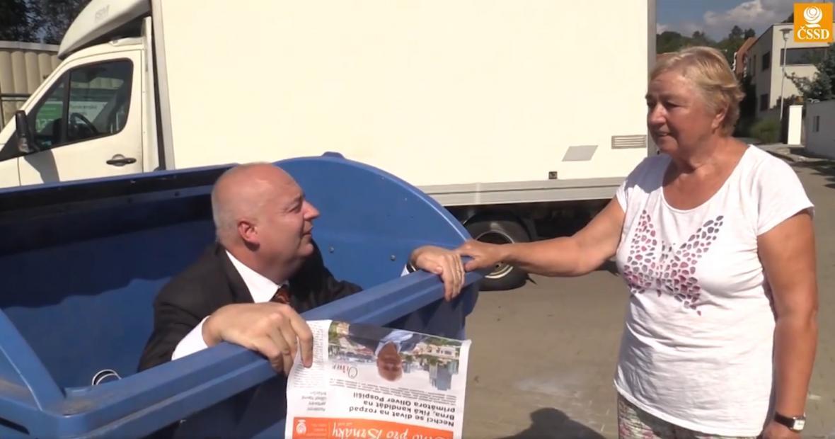Kampaň Olivera Pospíšila (ČSSD), kandidáta na primátora Brna