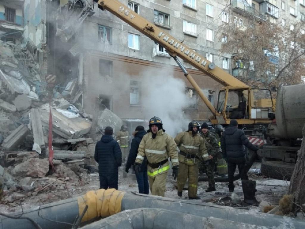 Exploze plynu zničila dům v Magnitogorsku