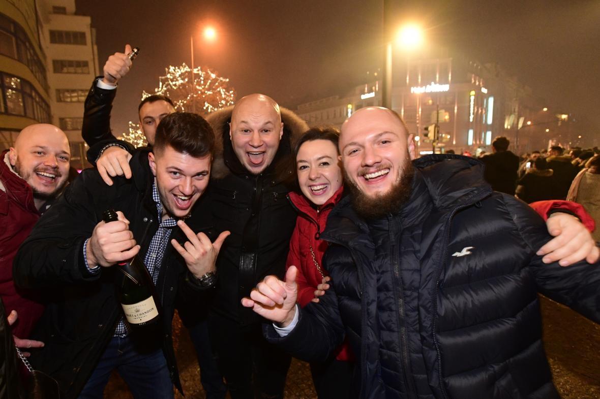 Novoroční oslavy v centru Prahy