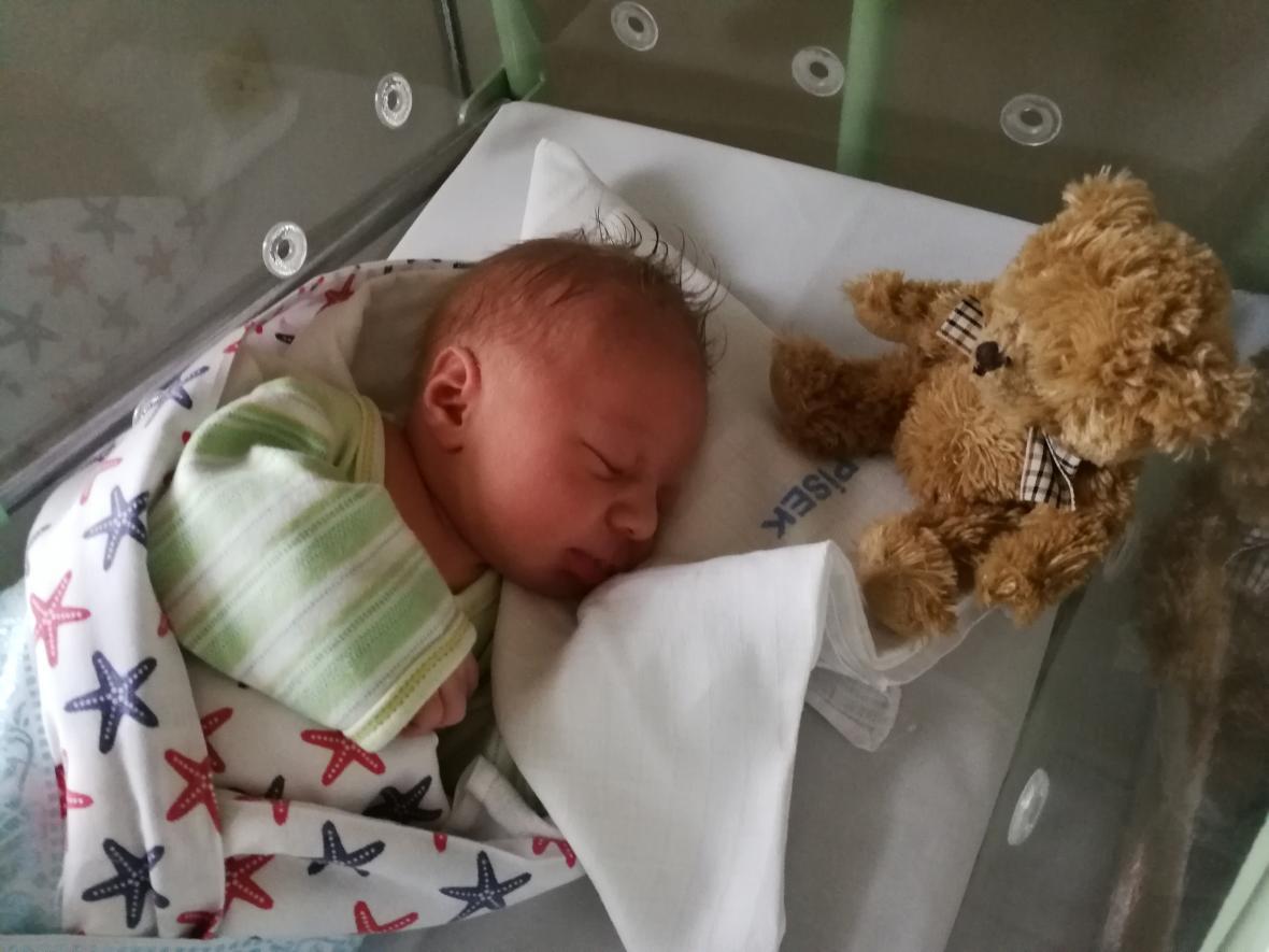 Tomáš se narodil v písecké porodnici v první minutě nového roku