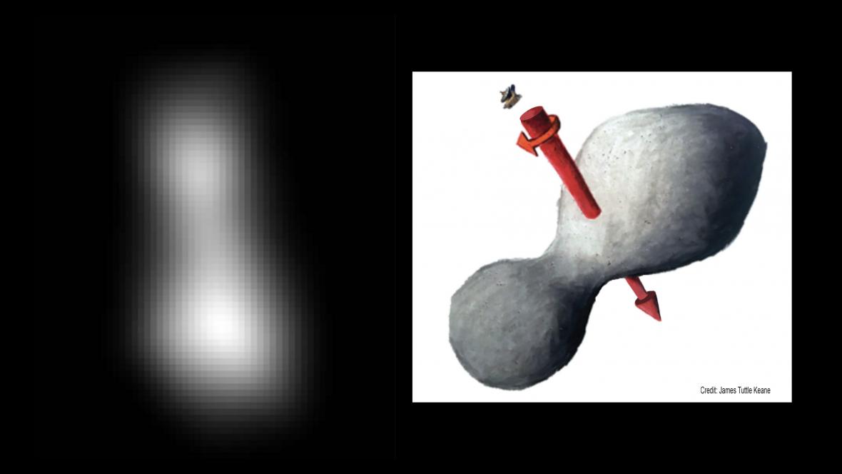 První snímek planetky Ultima Thule pořízený sondou New Horizons