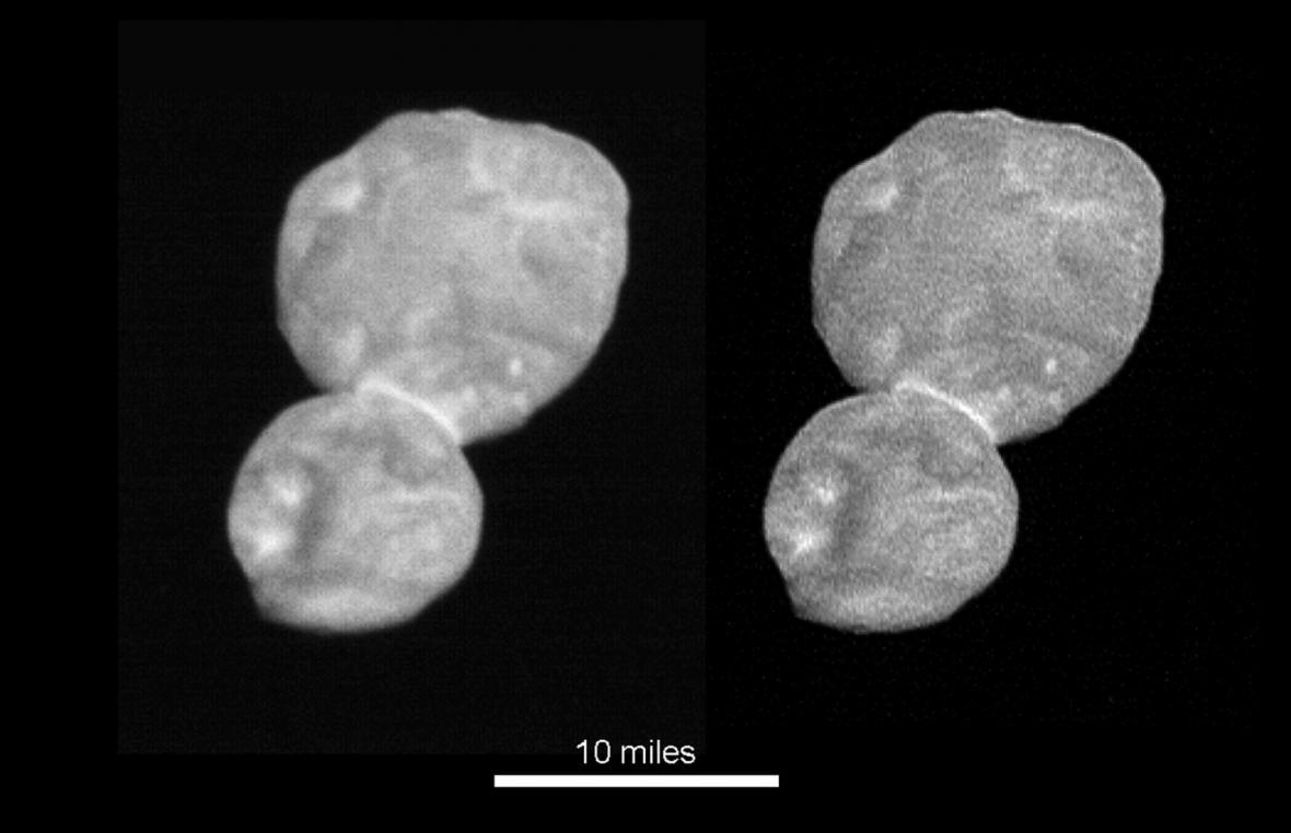 NASA zveřejnila nejnovější snímky planetky Ultima Thule