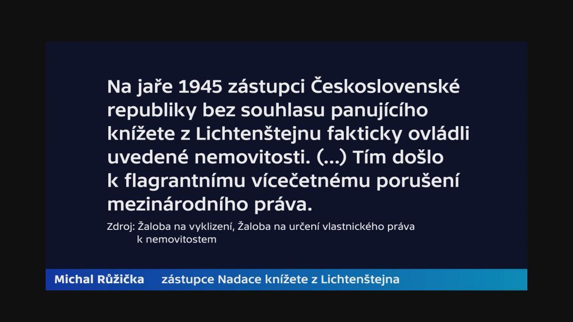 Vyjádření zástupce Nadace knížete z Lichtenštejna Michala Růžičky