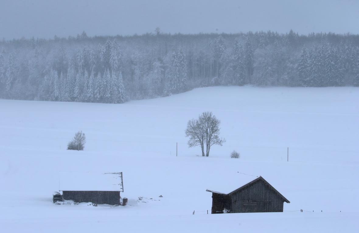 Sníh v Bavorsku